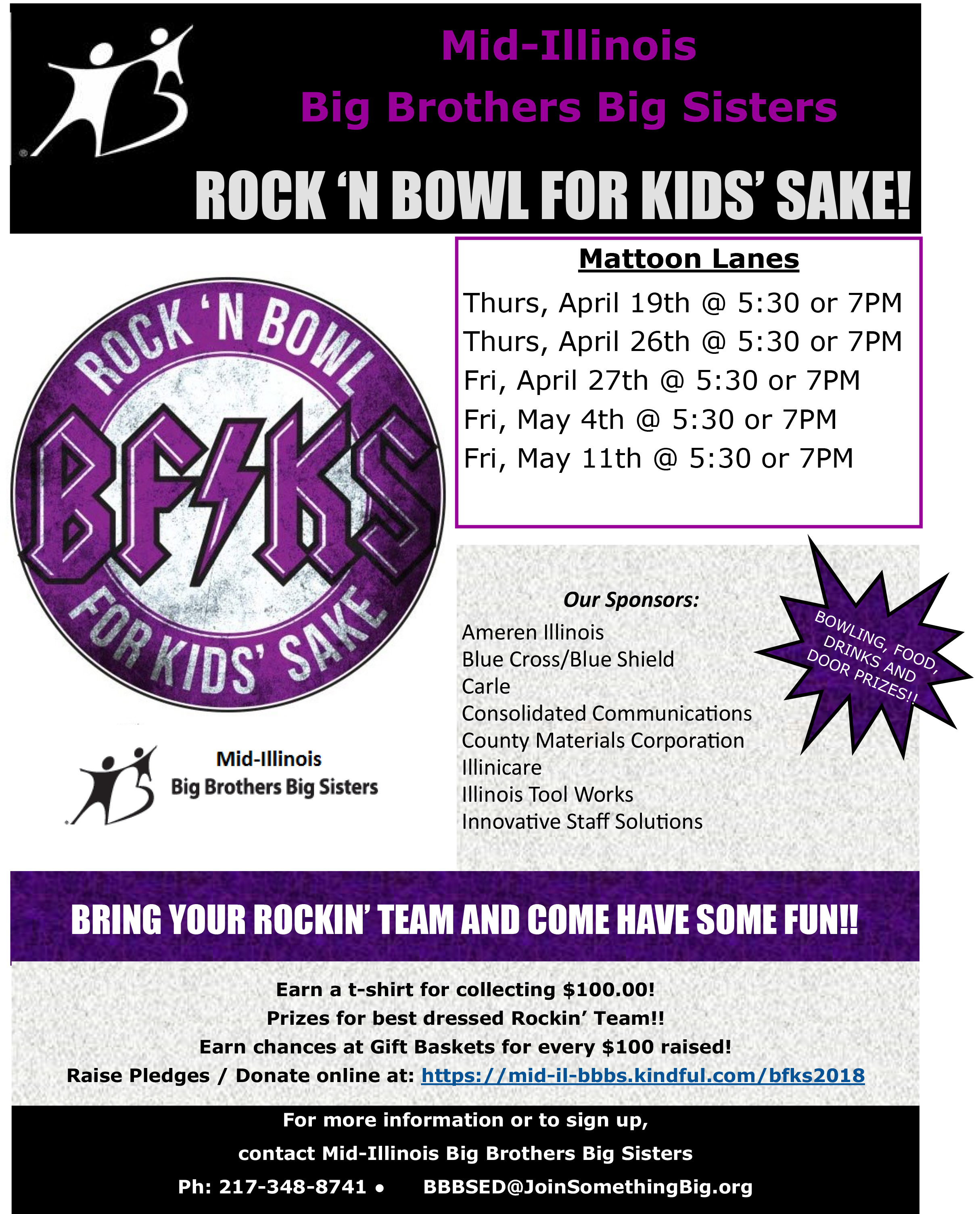 Rock 'N Bowl For Kids' Sake! @ Mattoon Lanes | Mattoon | Illinois | United States