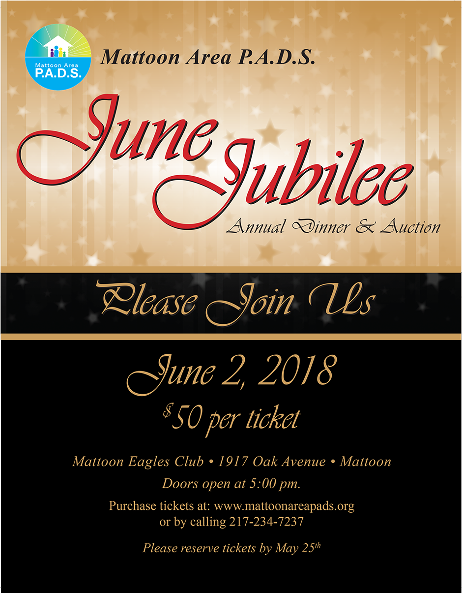 June Jubilee Annual Dinner & Auction @ Mattoon Eagles Club | Mattoon | Illinois | United States