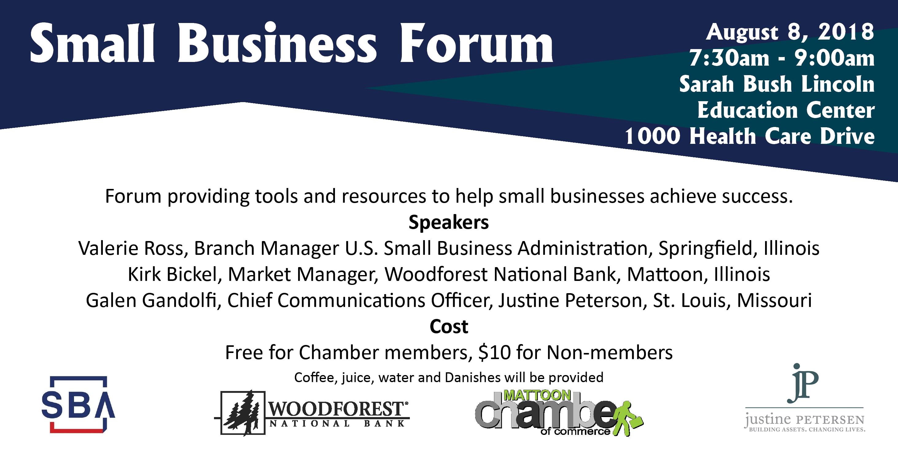 Small Business Forum @ Sarah Bush Lincoln Education Center | Mattoon | Illinois | United States
