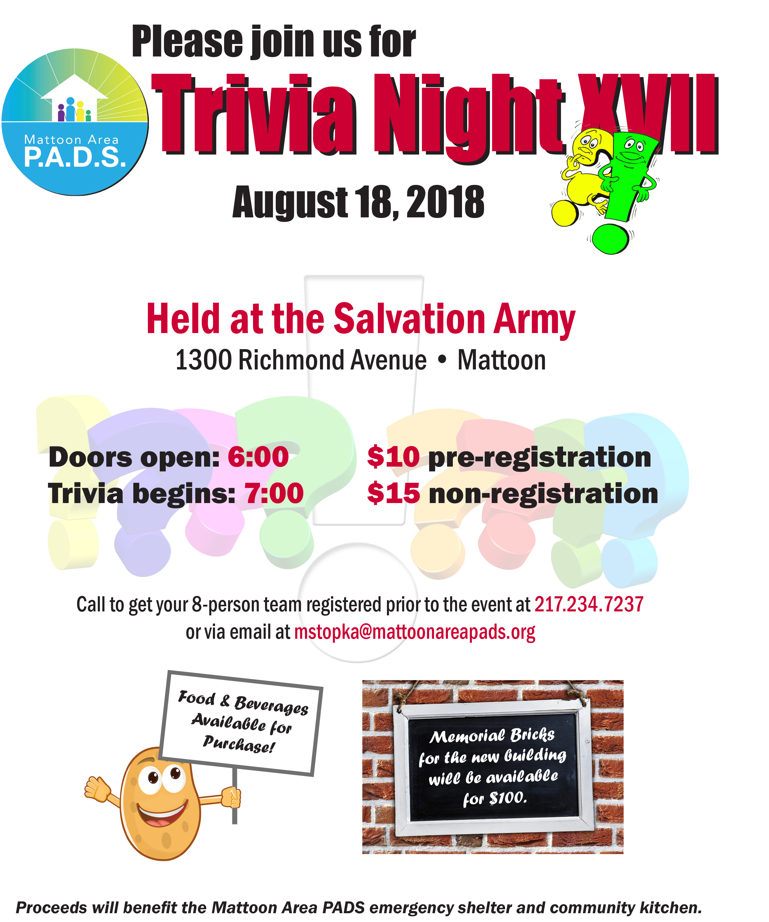 Trivia Night XVII @ Salvation Army | Mattoon | Illinois | United States