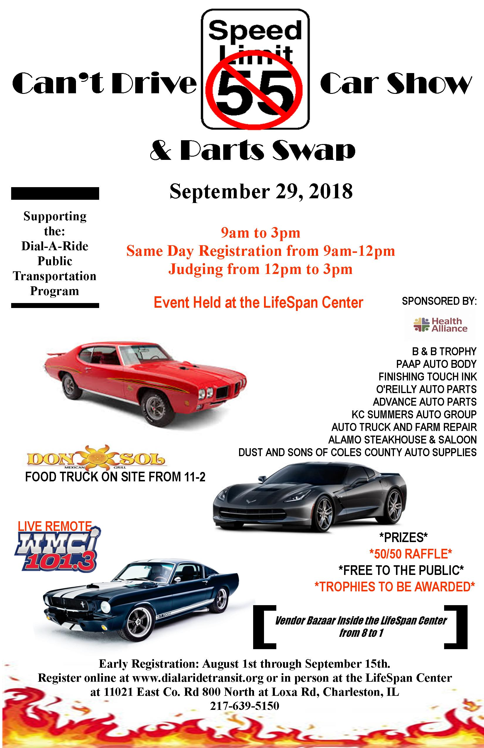 Can't Drive 55 Car Show @ LifeSpan Center | Charleston | Illinois | United States