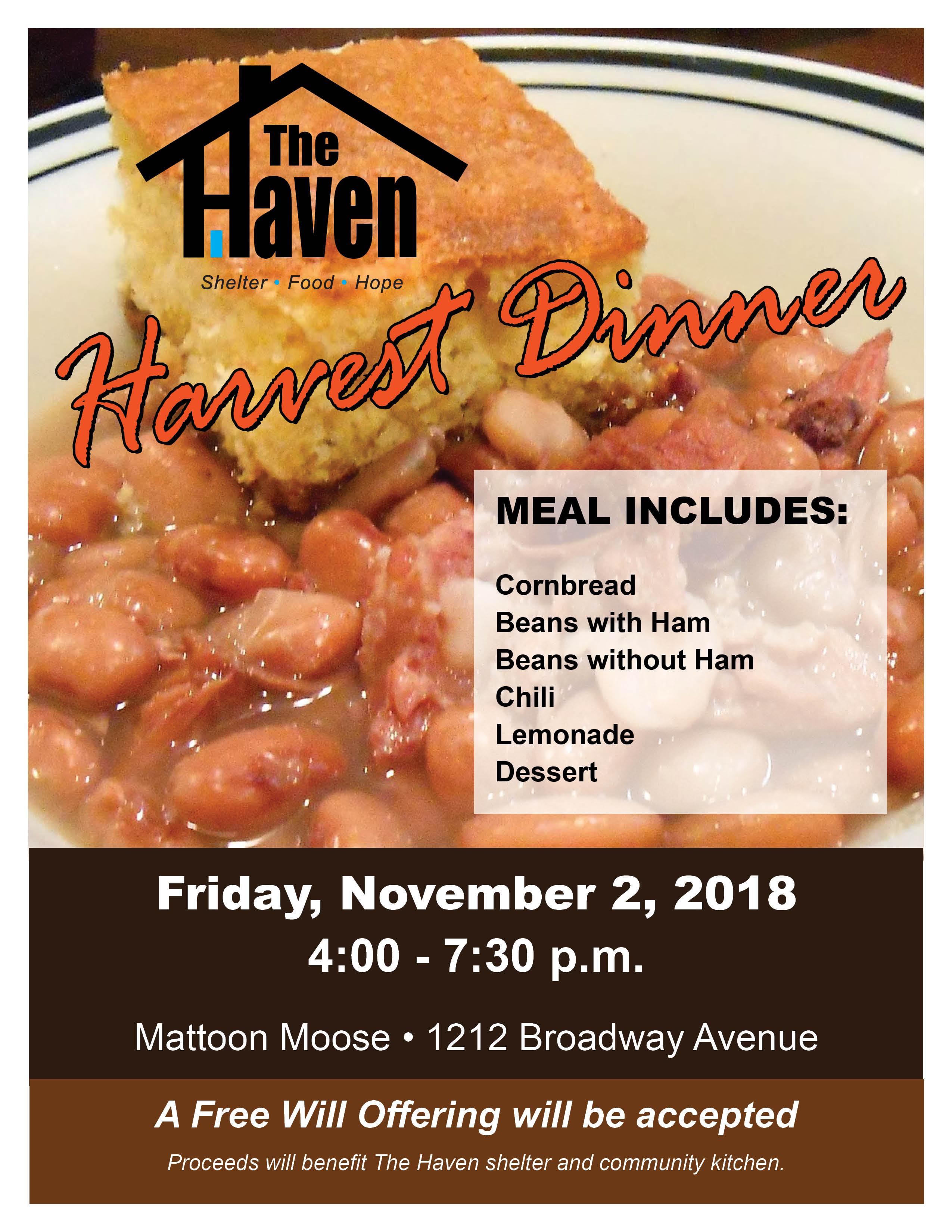 Harvest Dinner @ Mattoon Moose | Mattoon | Illinois | United States