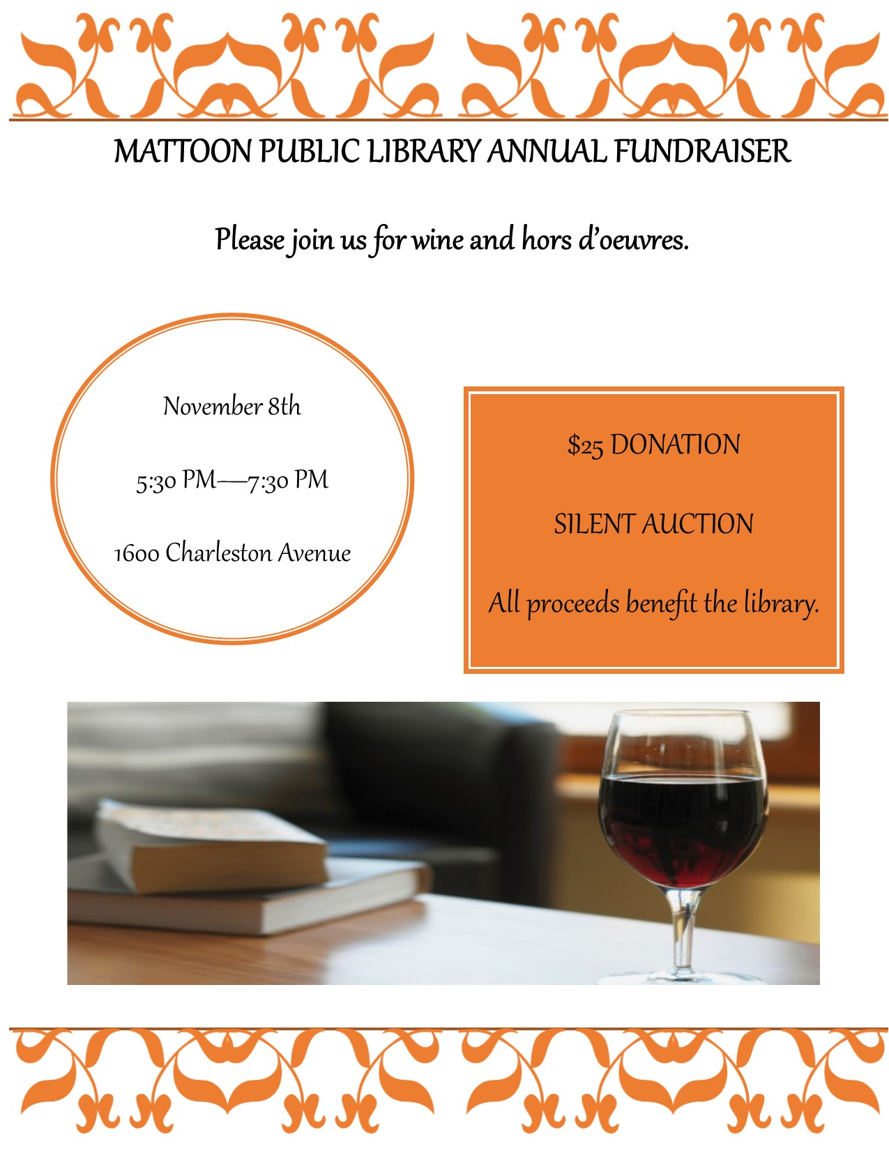 Mattoon Public Library Annual Fundraiser @ Mattoon Public Library | Mattoon | Illinois | United States