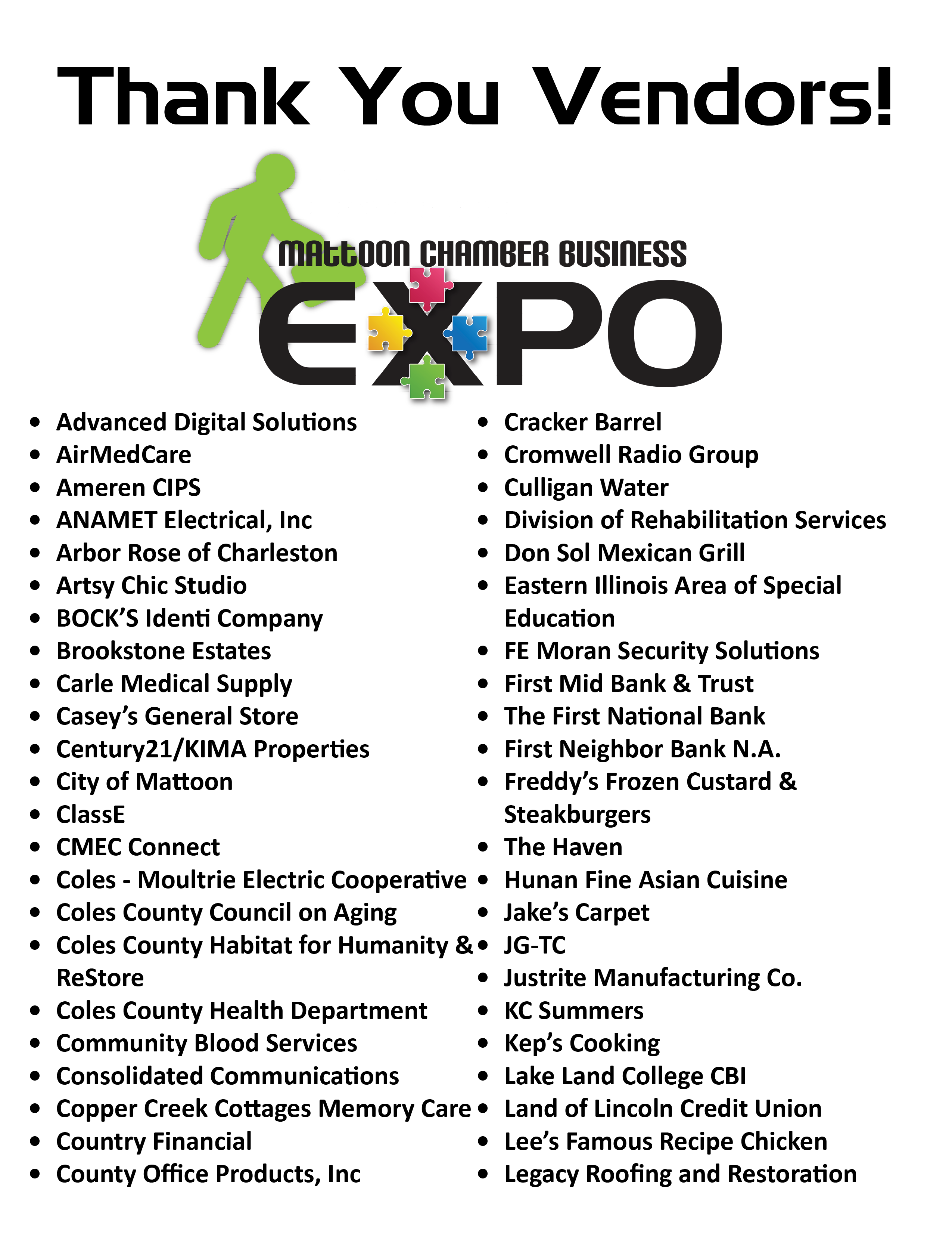 Business Expo Thank You – Mattoon Chamber of Commerce