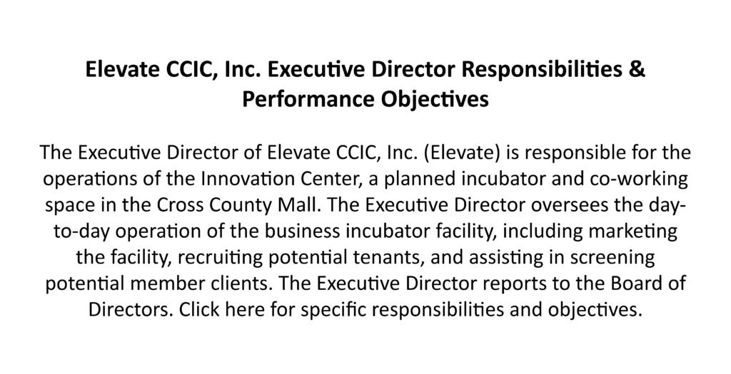 Elevate CCIC, Inc. Executive Director Job Posting