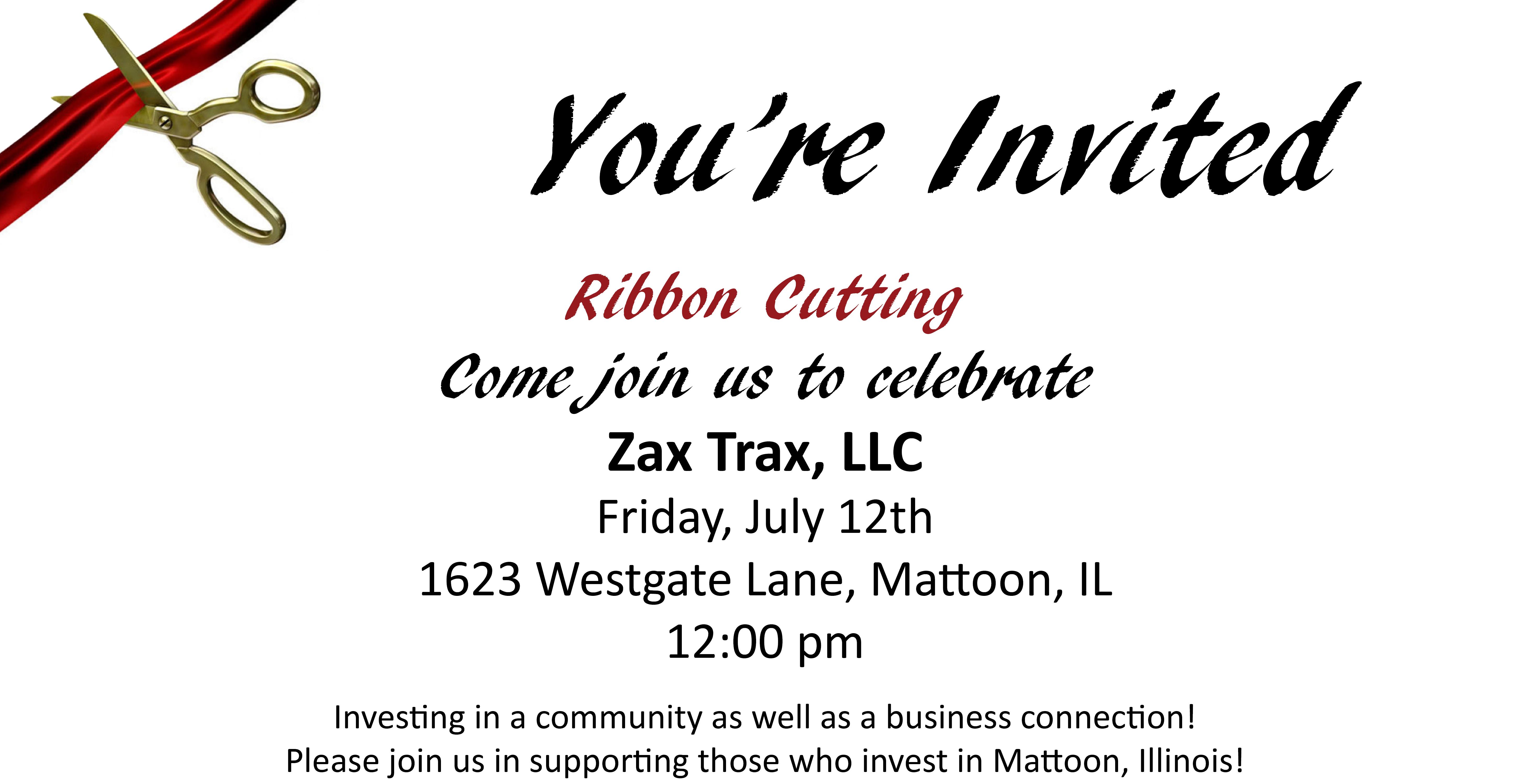 Ribbon Cutting @ Zax Trax, LLC