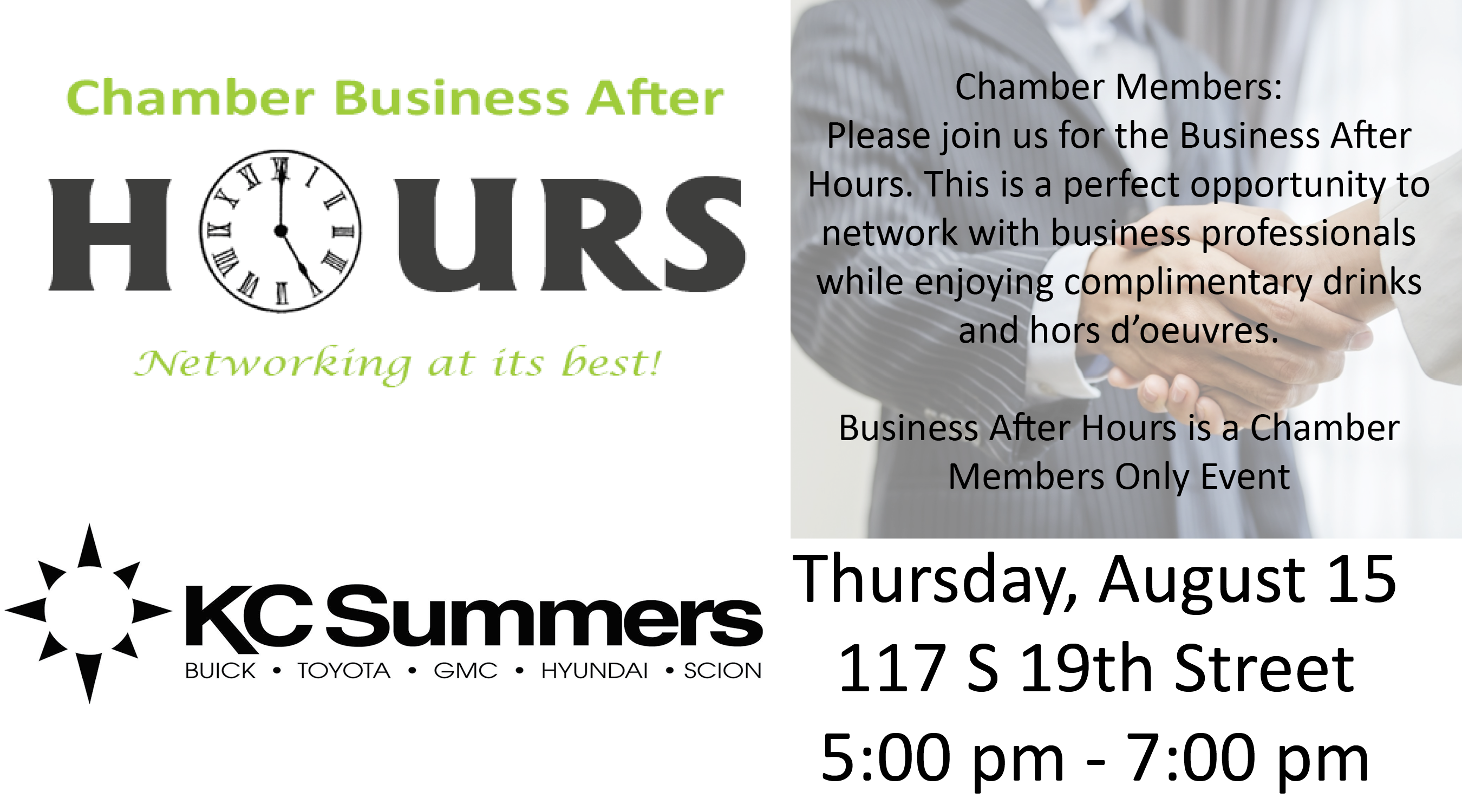 Business After Hours @ KC Summers