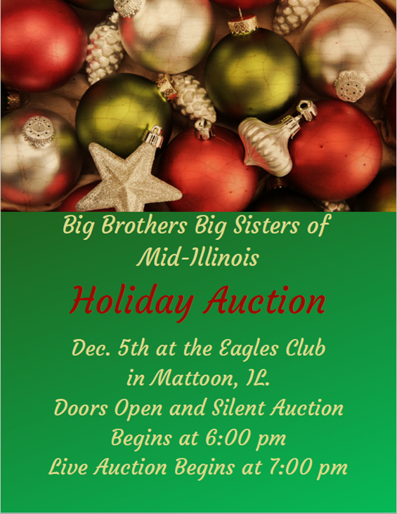 Big Brothers Big Sisters Holiday Auction @ Mattoon Eagles Club