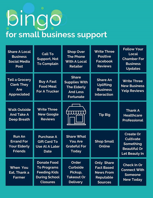 Small Business Support Bingo