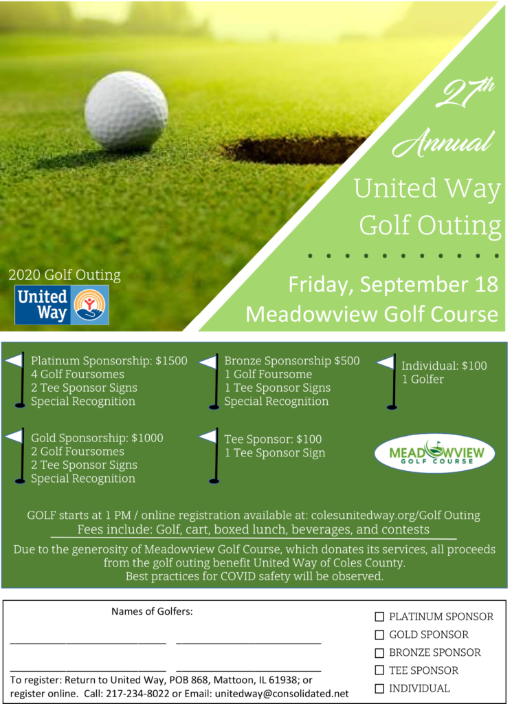 27th Annual United Way Golf Outing @ Meadowview Golf Course