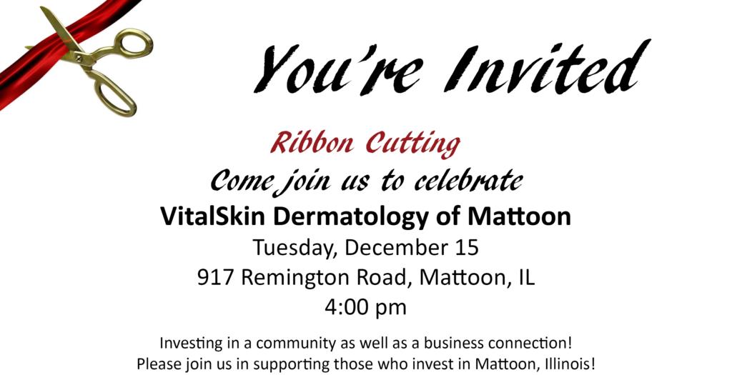 Ribbon Cutting @ VitalSkin Dermatology of Mattoon