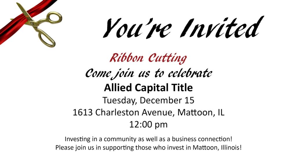Ribbon Cutting @ Allied Capital Title