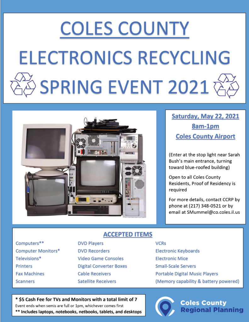 Coles County Electronics Recycling @ Coles County Airport