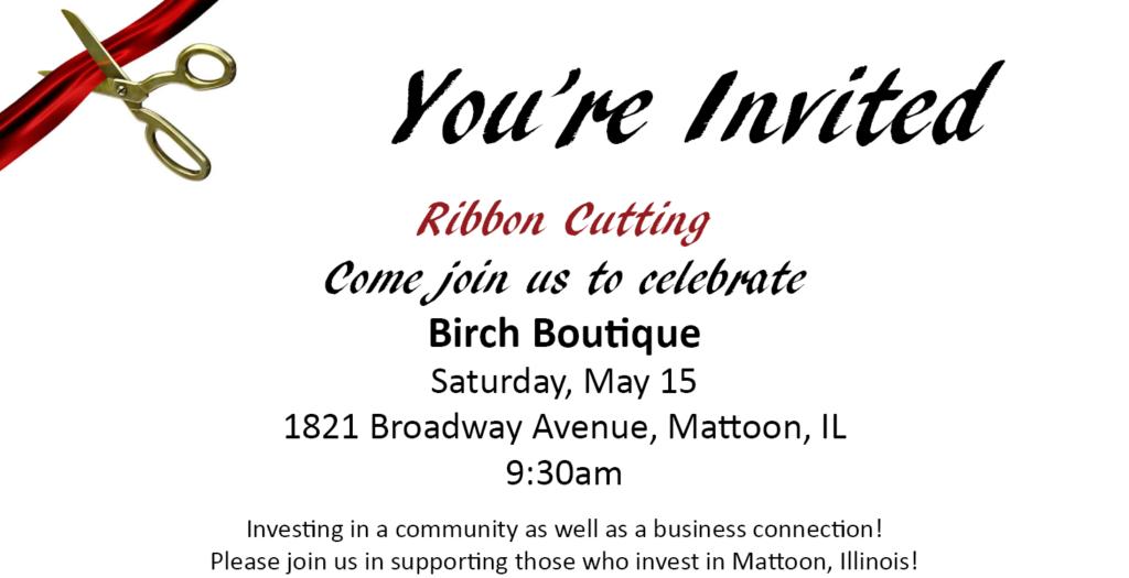 Ribbon Cutting @ Birch Boutique
