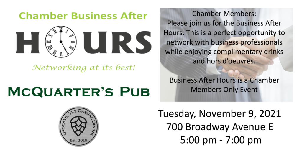 Business After Hours @ McQuarter's Pub