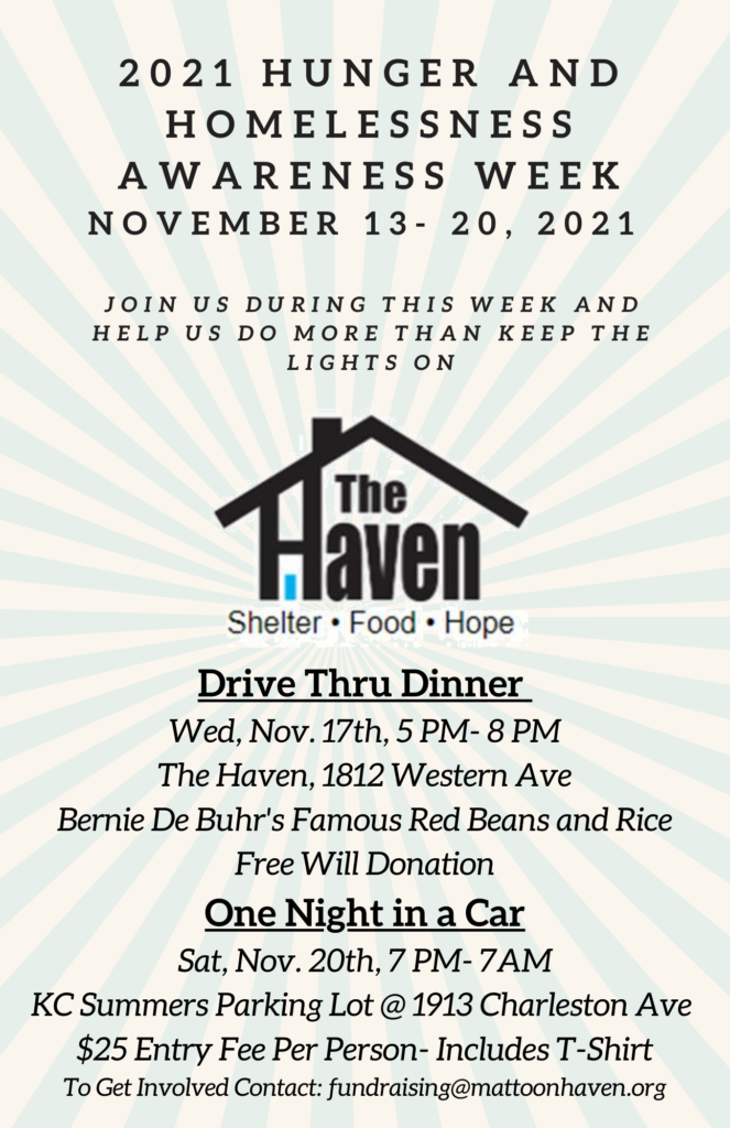 2021 Hunger and Homelessness Awareness Week @ The Haven